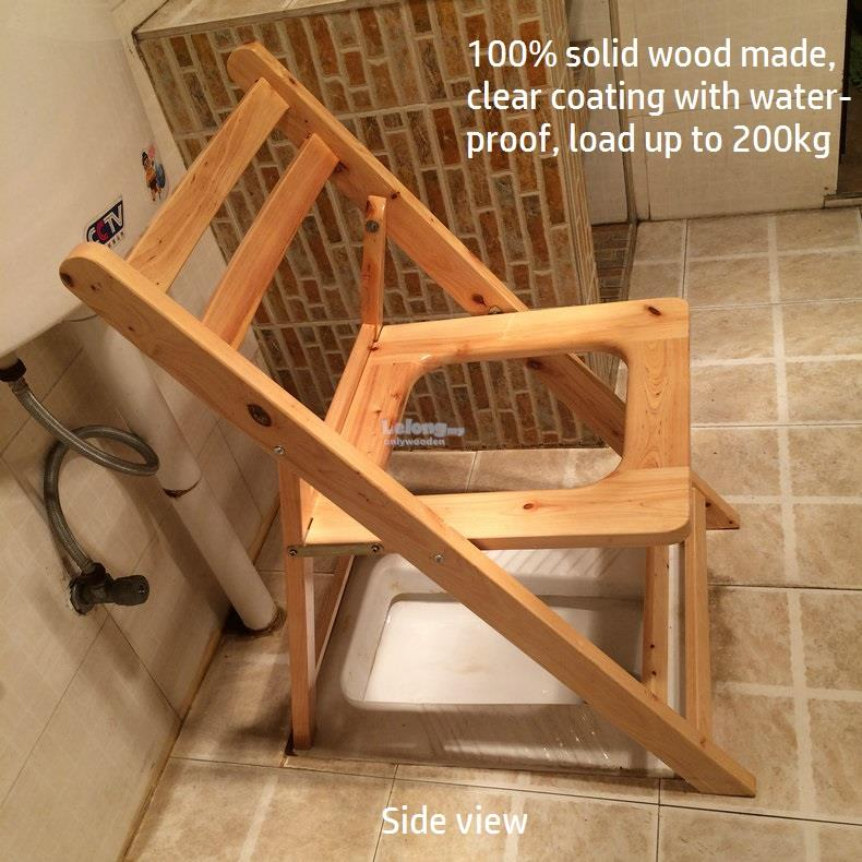 Wooden Portable Folding Aid Chair To (end 12/7/2018 7:56 PM)