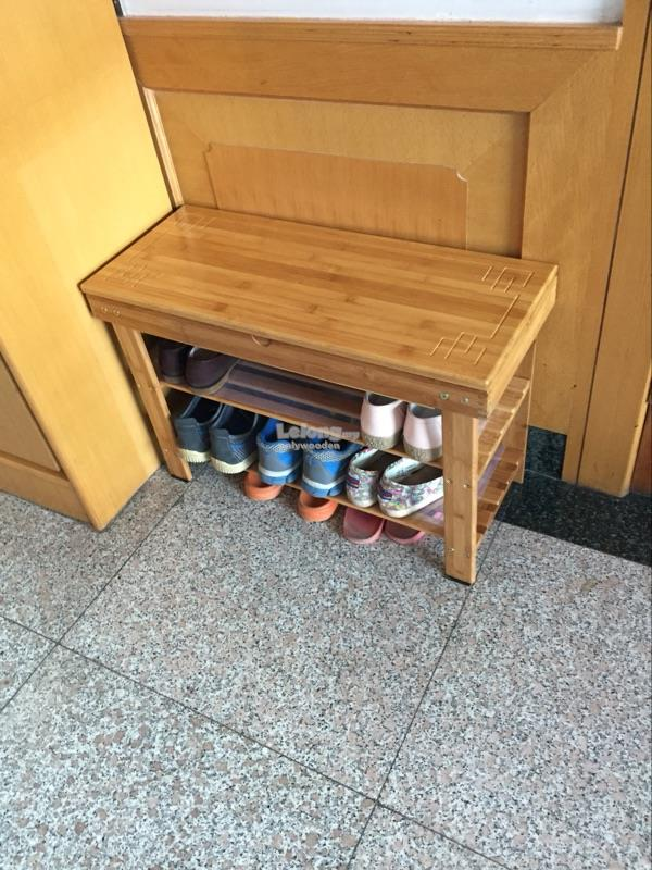 Wooden Shoes Rack, DIY Stool, Socks Storage, Wood Shelf, Portable