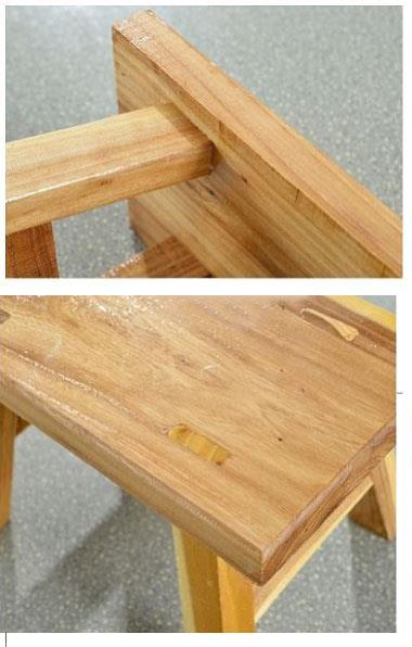 Wooden Stool Chair Rectangular Benches Furniture Home Room Decoration