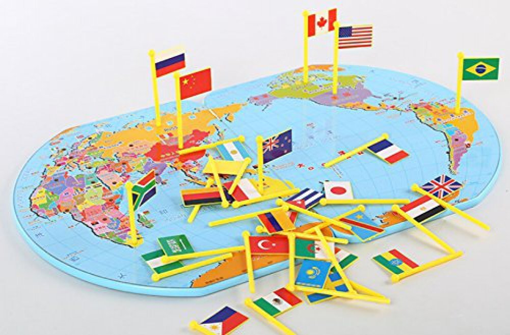 Wooden world map flag matching puzzl end 4122020 205 pm wooden world map flag matching puzzle geography educational toy gumiabroncs Choice Image