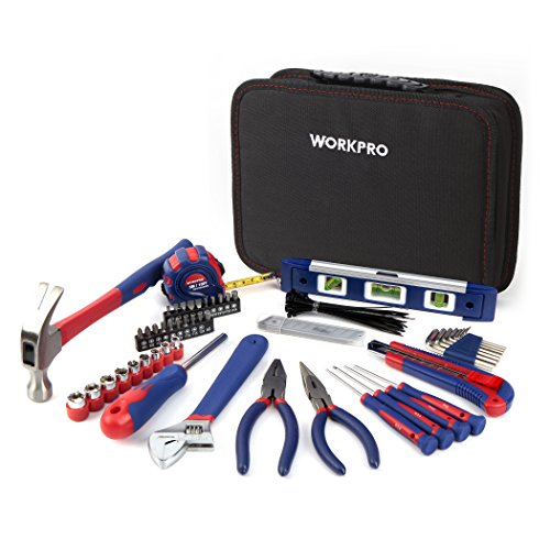 WORKPRO 100-Piece Kitchen Drawer Home Tool Kit, Home Repair Tool Set with Easy