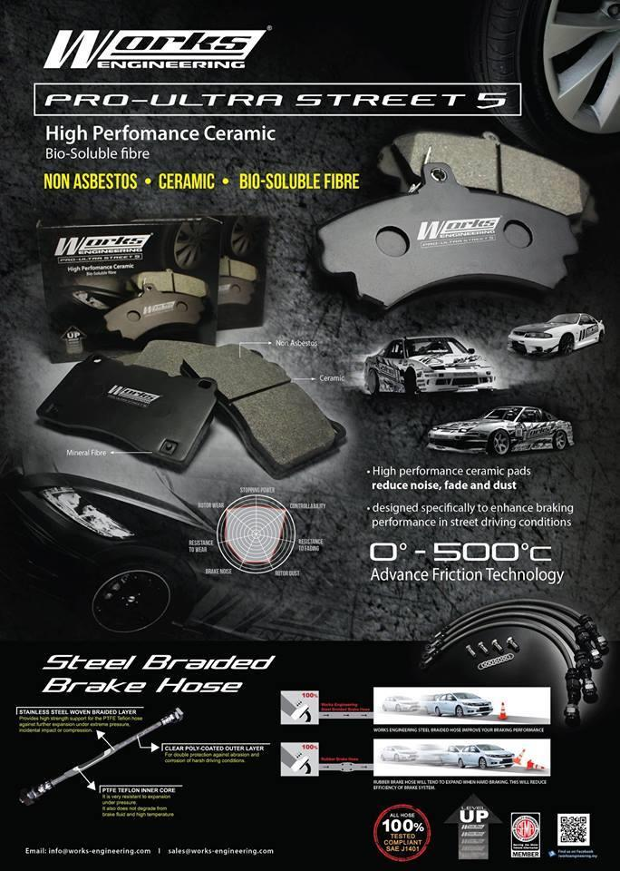 WORKS ENGINEERING Front  Brake Pad HONDA CRZ CR-Z 2008 - 2013