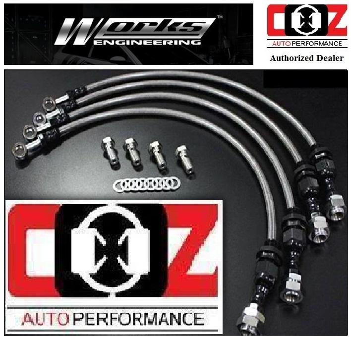 WORKS ENGINEERING STEEL BRAKE HOSE KIT AUDI A4/A5/S4/S5 2.0 2009 +