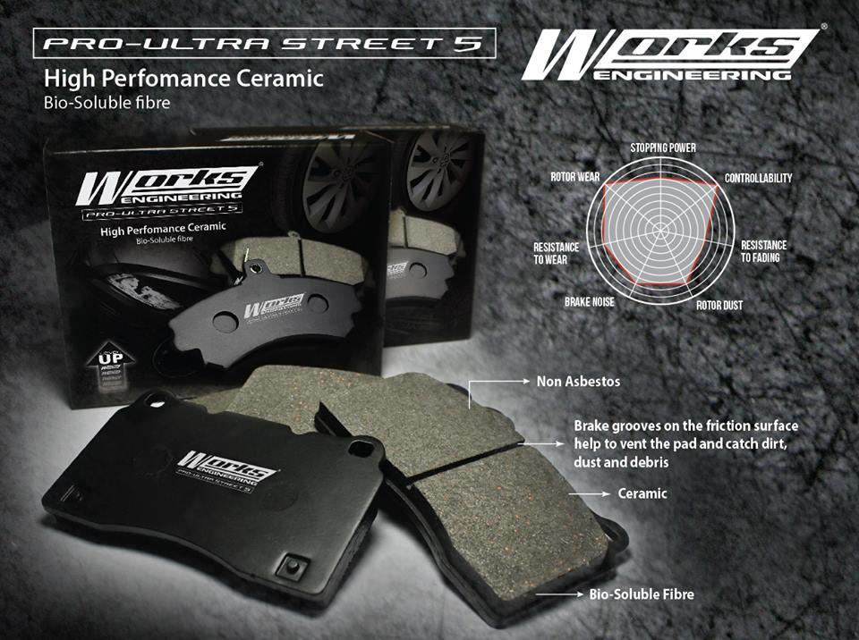 WORKS ENGINEERING STREET 5 Brake Pad GEN-2