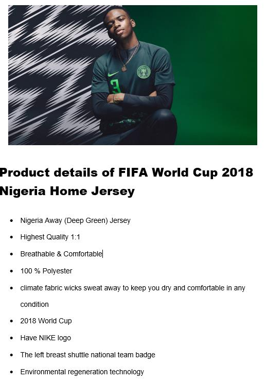 46d95c0bd World Cup 2018 Nigeria Away Jersey ( (end 8 12 2018 3 15 PM)