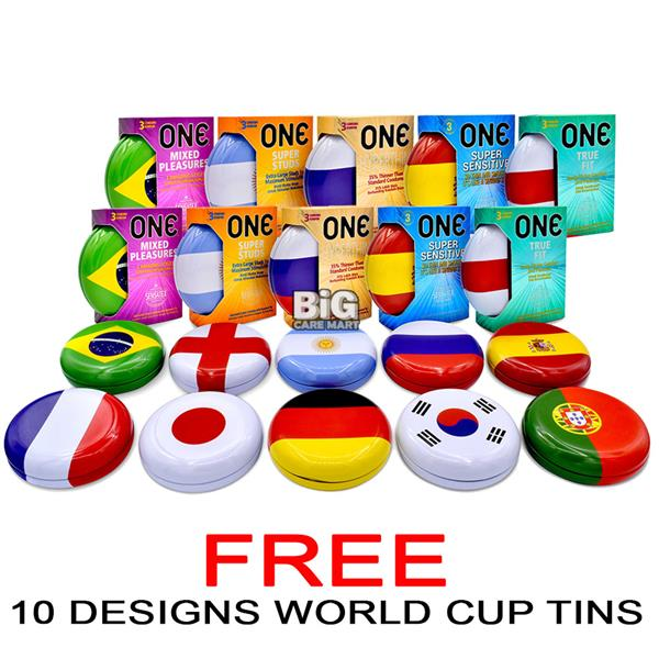 World Cup Edition One Condom 10-In-1 Set (10 Countries Flag)
