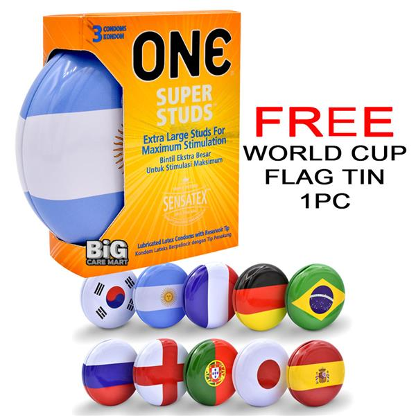 World Cup Edition One Super Studs Condoms 3s