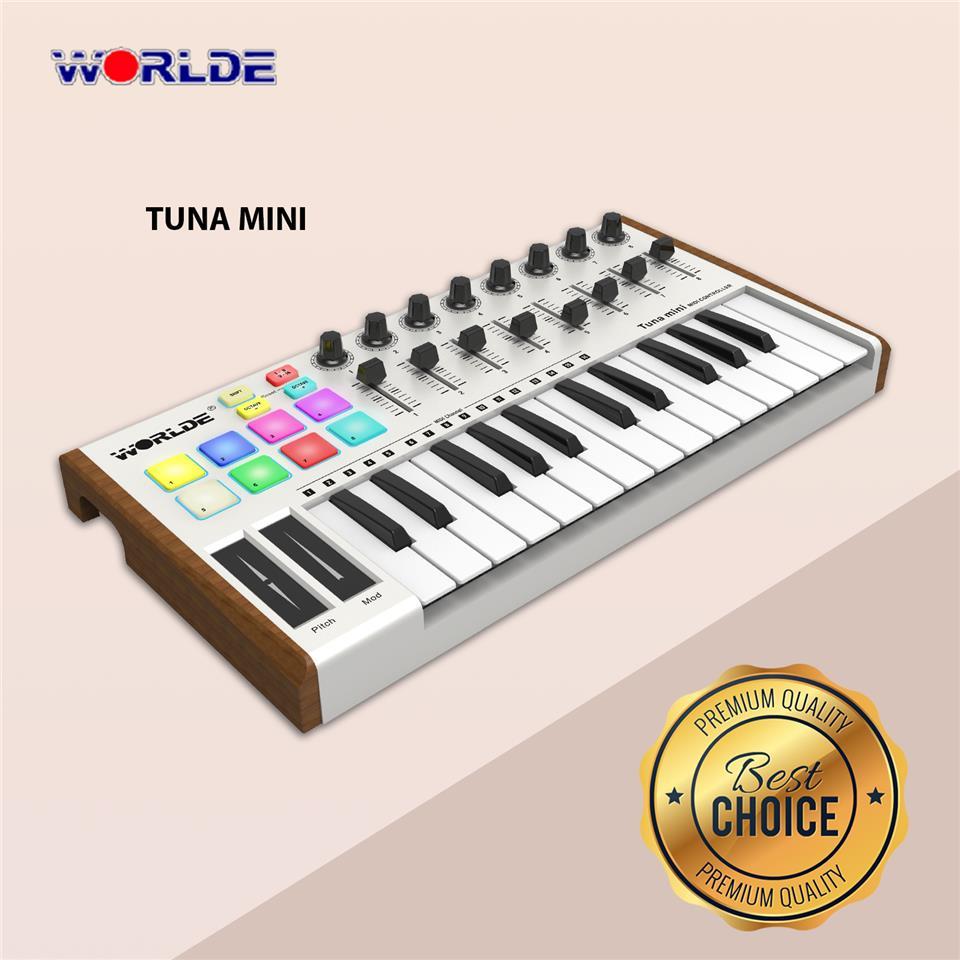 Best Midi Keyboard 2020.Worlde 25 Key Usb Portable Tuna Mini Midi Keyboard Midi Controller