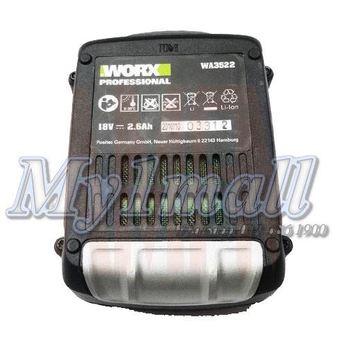WORX WA3522 18V REPLACEMENT BATTERY WORX