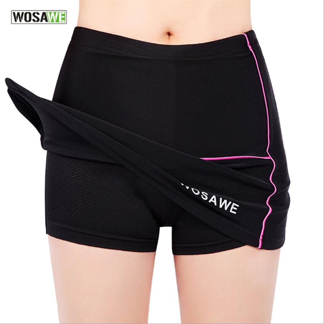 WOSAWE Bicycle Clothing Riding Cycling Women Shorts Skirt Silicone