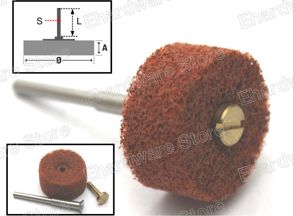 Non-Woven Spindle Mounted Wheels With 3mm Shank 10Pcs/Pack (MSWNP3-C)
