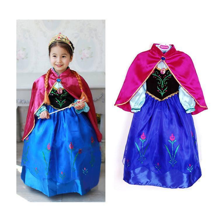Beautiful Frozen Anna Gown Kids Dress Costume