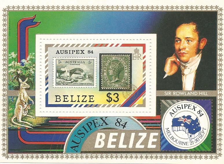 WS-16M BELIZE 1984 AUSIPEX MINIATURE SHEET