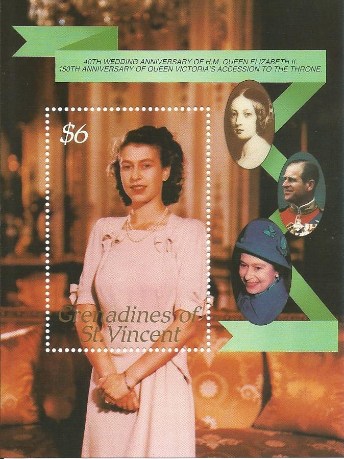 WS-20M GRENADINES OF ST VINCENT 40TH ANNI OF H.M QUEEN ELIZABETH II MS