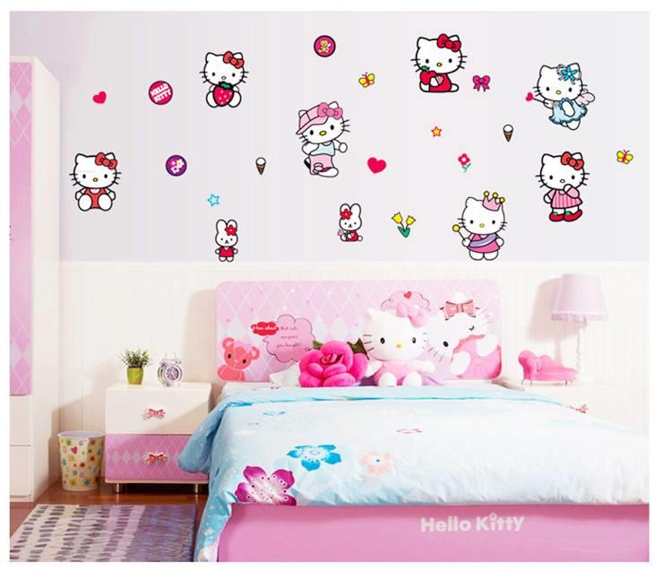 ws0126 hello kitty wall sticker (end 8/16/2020 9:15 am)
