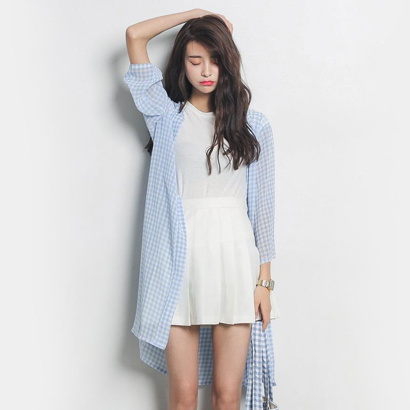 WS0137 Korean Fashion Plaid Clothing
