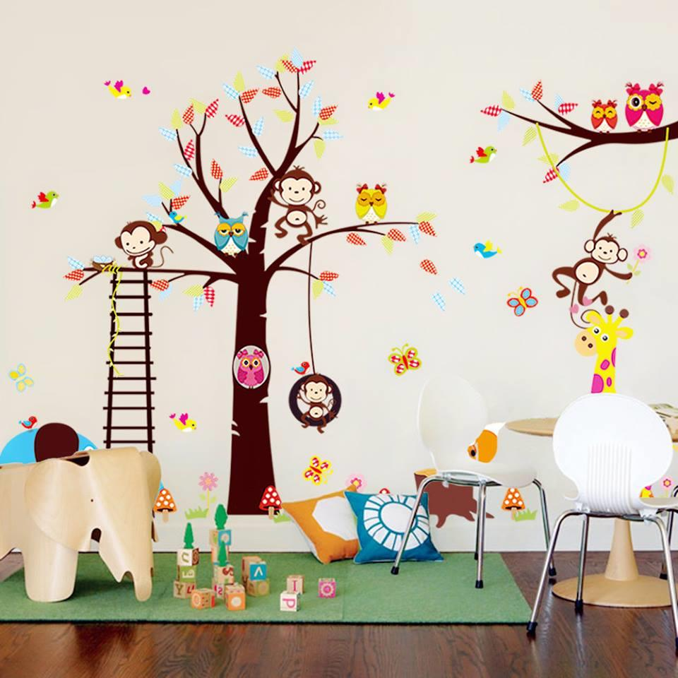 WS0234 WOODLAND ANIMALS WALL STICKER