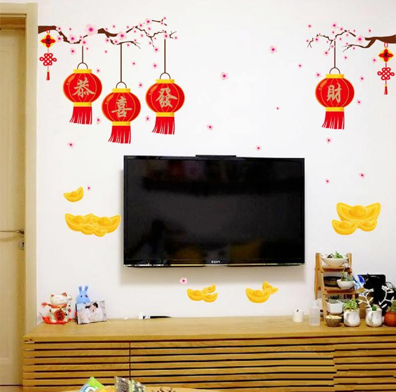 ws0326 chinese new year wall sticke (end 5/15/2020 10:15 am)