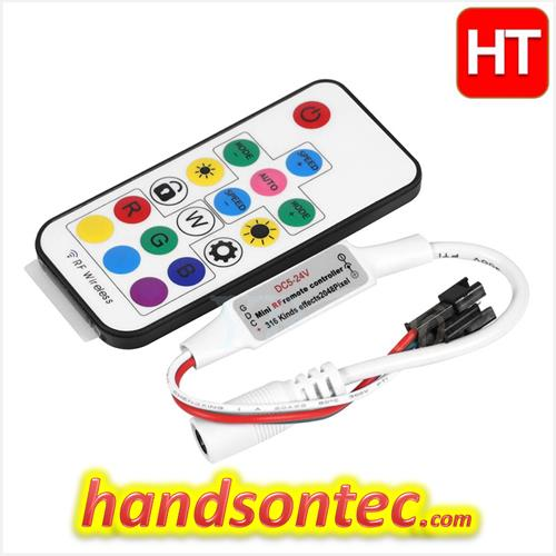 super popular 3adbf e5b70 WS2812B Neopixel LED Strip 17-Keys RF Remote Controller