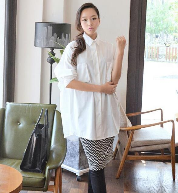 WT6912 Fashion Loose Top White