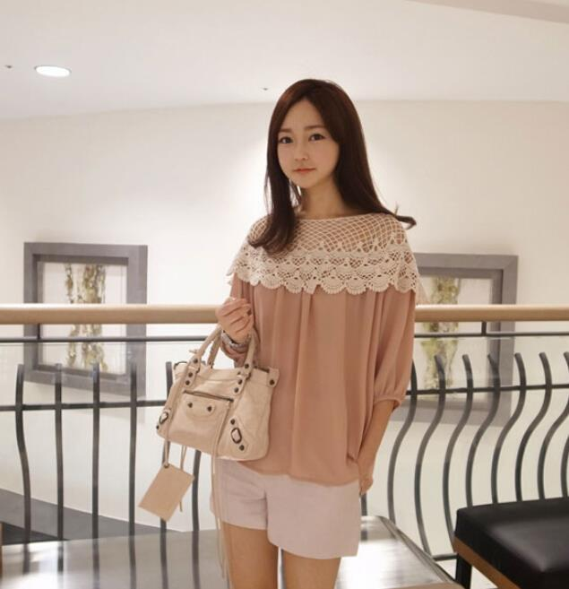 WT6948 Fashion Pretty Loose Top Pink