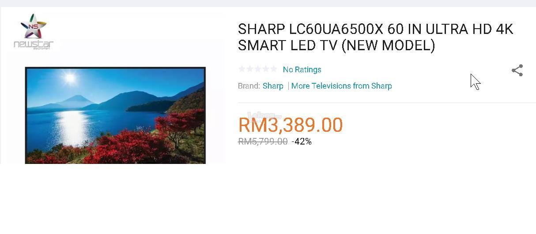 WTS Sharp LC-60UA6500X 60