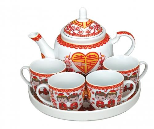 WTS21 C Cartoon Wedding Tea Set Set21345