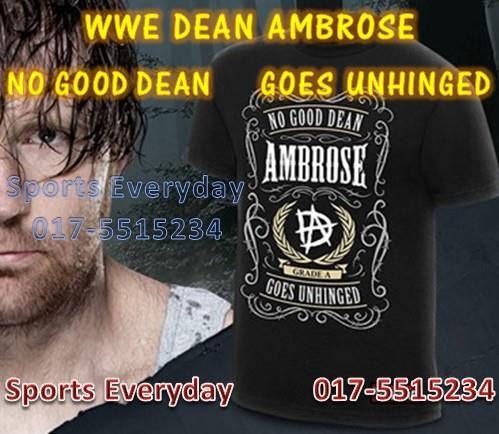WWE WWF T Shirts (Dean Ambrose No Good Goes Unhinged) WRESTLING GUSTI