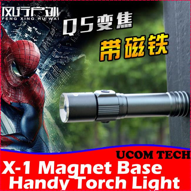 X-1 Magnet Base Handy Torch Light, Torchlight, Rechargeable Flash Ligh