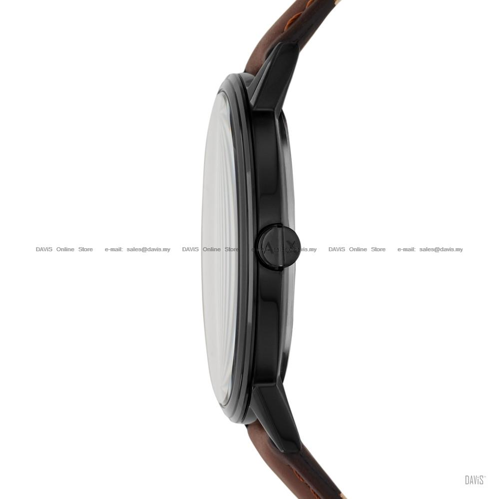 A|X ARMANI EXCHANGE AX2706 Men Cayde 3-hand Easy Reader Leather Brown