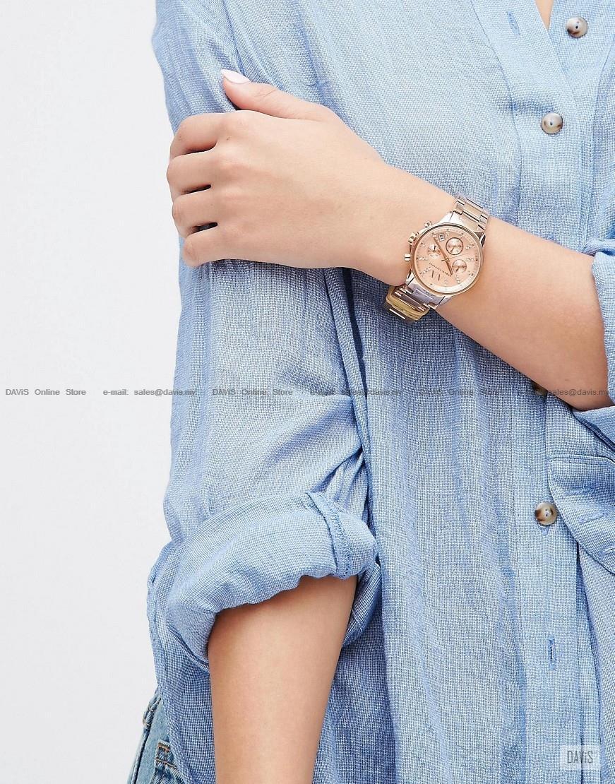 8dcdfc1528a A|X ARMANI EXCHANGE AX4326 Lady Banks Chrono Glitz Bracelet Rose Gold