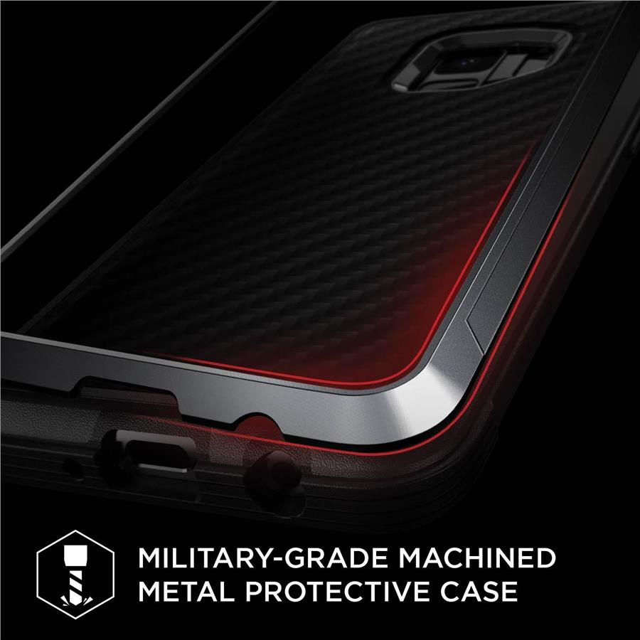 X-Doria Defense Lux Case for Samsung Galaxy S9+ (Black Carbon)