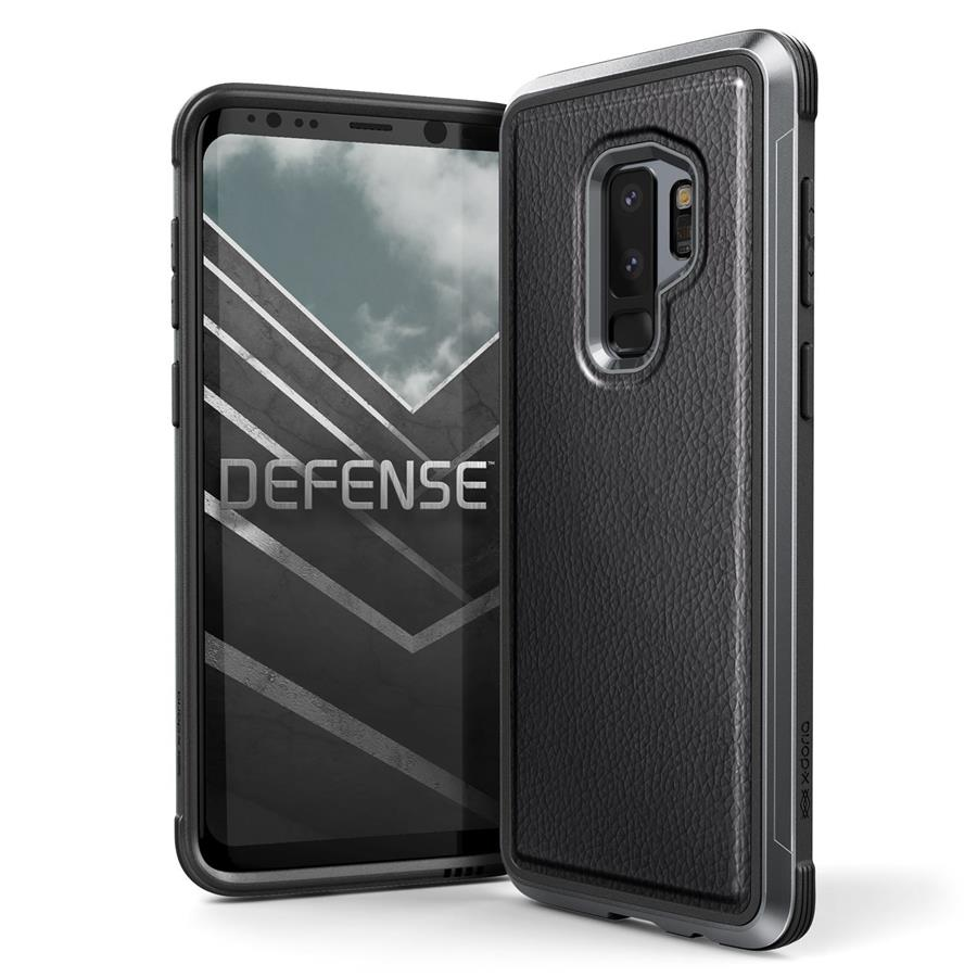 X-Doria Defense Lux Case for Samsung Galaxy S9+ (Black Leatthe)