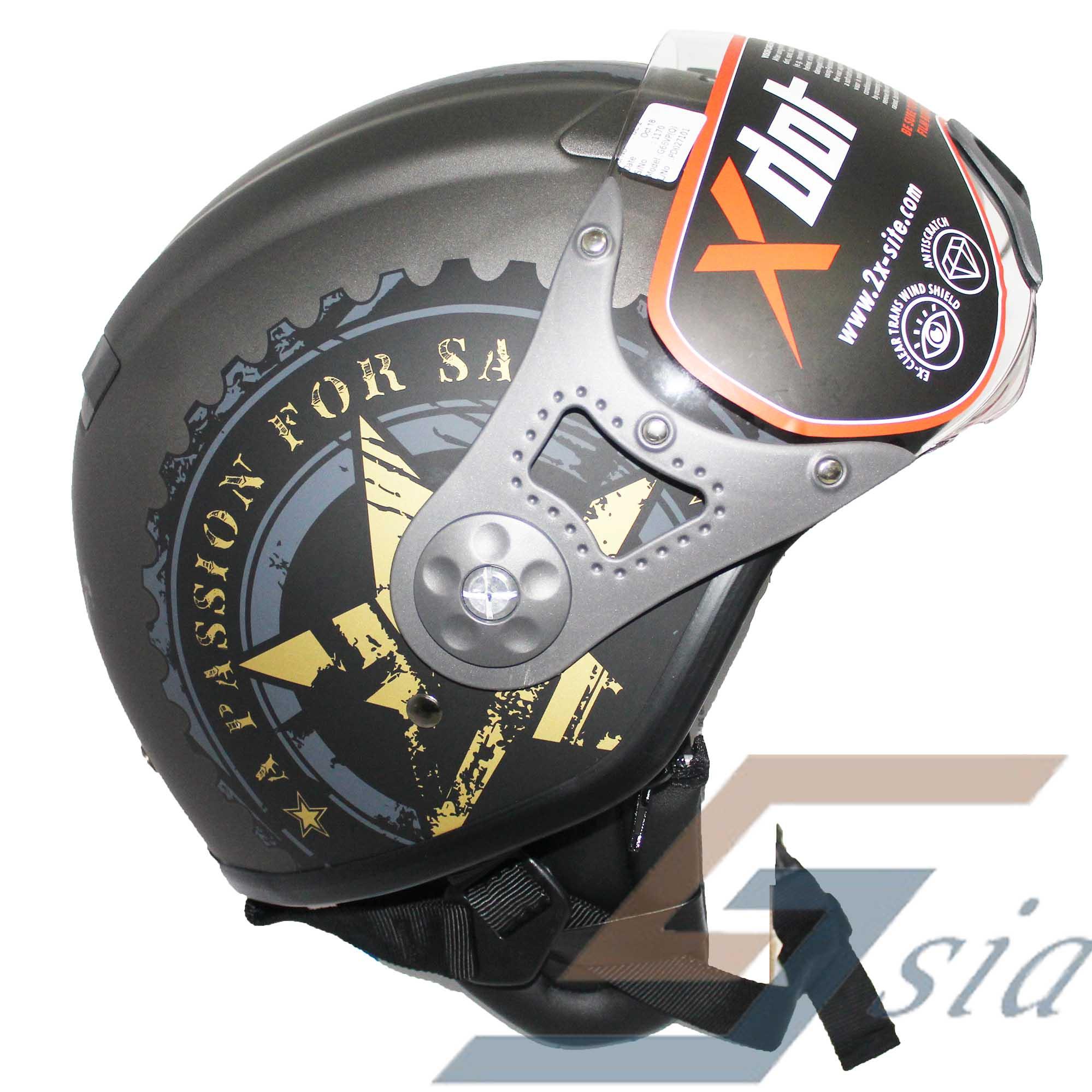 X-Dot G66V Helmet (Matt Antarcite Grey/SS Grey Gold)