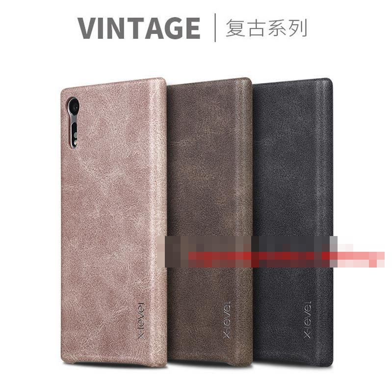 X-Level Sony Xperia XZ XZS Vintage Leather Back Case Cover Casing
