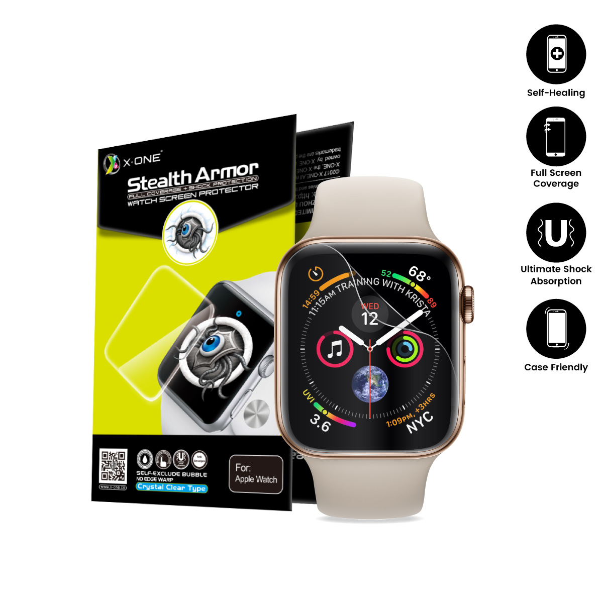 finest selection ff205 a40a9 X.One Apple Watch Series 4 40mm 44mm Screen Protector