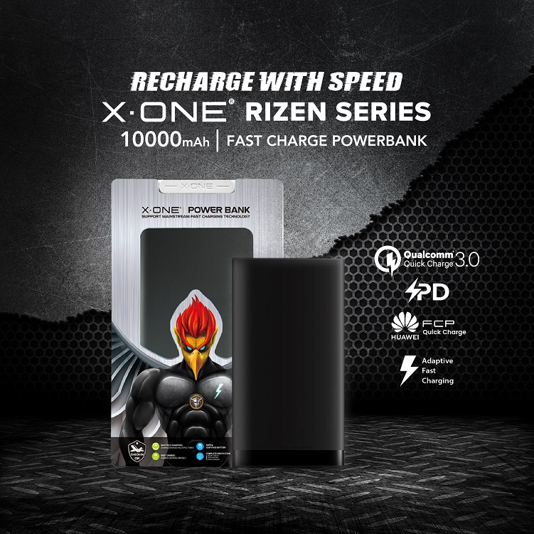 X-One Rizen Series Powerbank (MB-01) 10000mAh QC3.0 Huawei FCP Apple