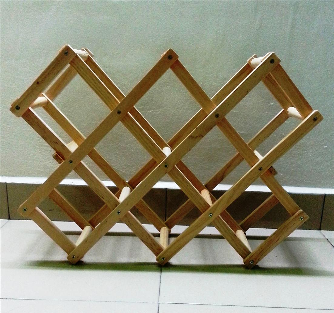 X Style Beer Bottle Wood Stand Wine Rack Ikea Storage