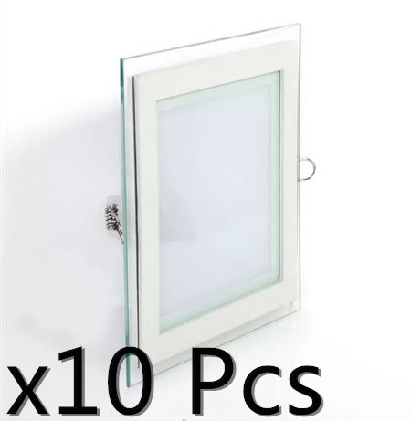 X10pcs 12w 4inch led panel downlig end 8142019 1217 pm x10pcs 12w 4inch led panel downlight glass square led recessed light aloadofball Images