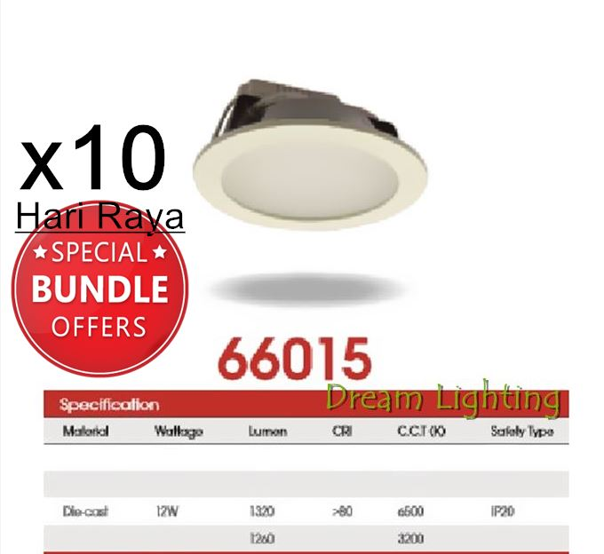 "(x10pcs) 12W 6""Inch Led Panel Downlight Round LED Ceiling Recessed Light Dayli"