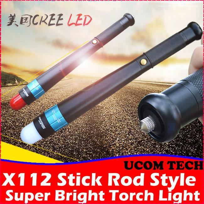 X112 Stick Rod Style Self Defence Super Bright Torch Light Torchlight