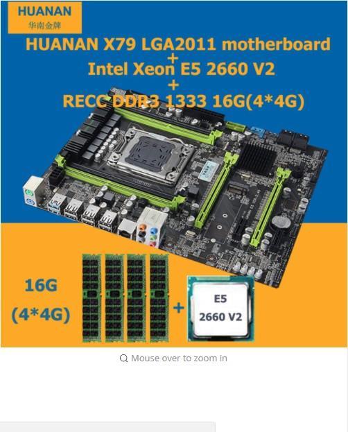 X79 V2 49 motherboard CPU RAM combos Xeon E5 2660 V2(10 cores/20 threa