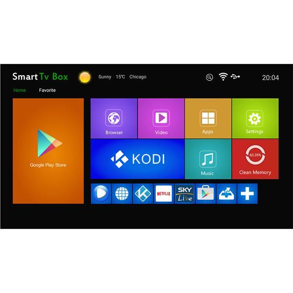 X96 ANDROID TV BOX ANDROID 6 0 MYIPTV KODI NETFLIX EXODUS