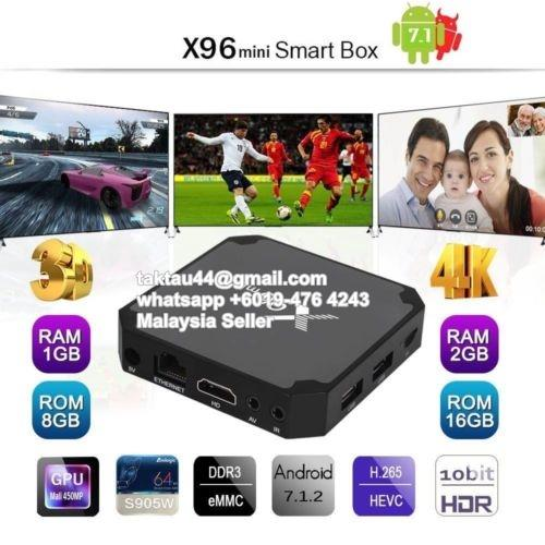 New X96 mini 4K Android 7 1 TV Box 8GB 16GB S905W Android TV Box