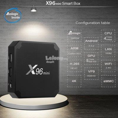 X96 Mini Android 7 1 TV BOX Quad Core WiFi H 265 UHD 4K 2 4GHz WiFi Me