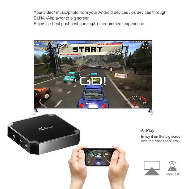 X96 Mini Android 7 1 TV BOX Quad Core WiFi H 265 UHD 4K 2 4GHz WiFi Me