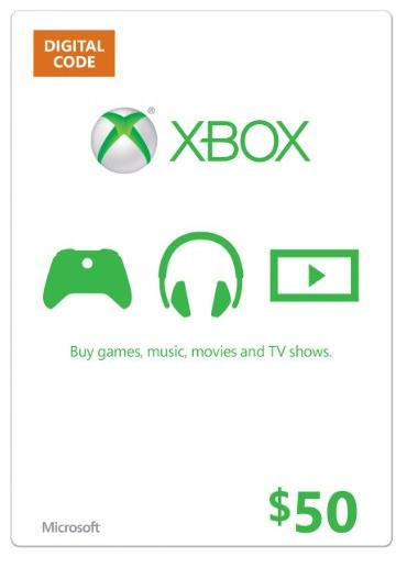 XBOX LIVE US$50 Gift Card