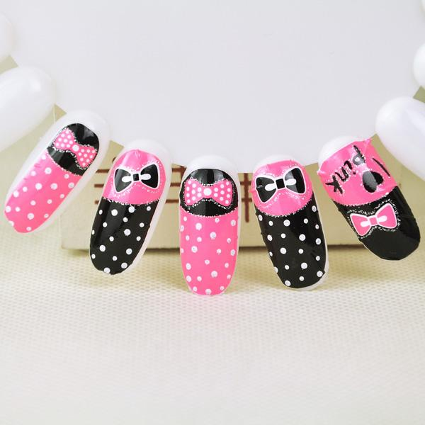 New¢XDIY Nail Sticker (Pink Ribbon)