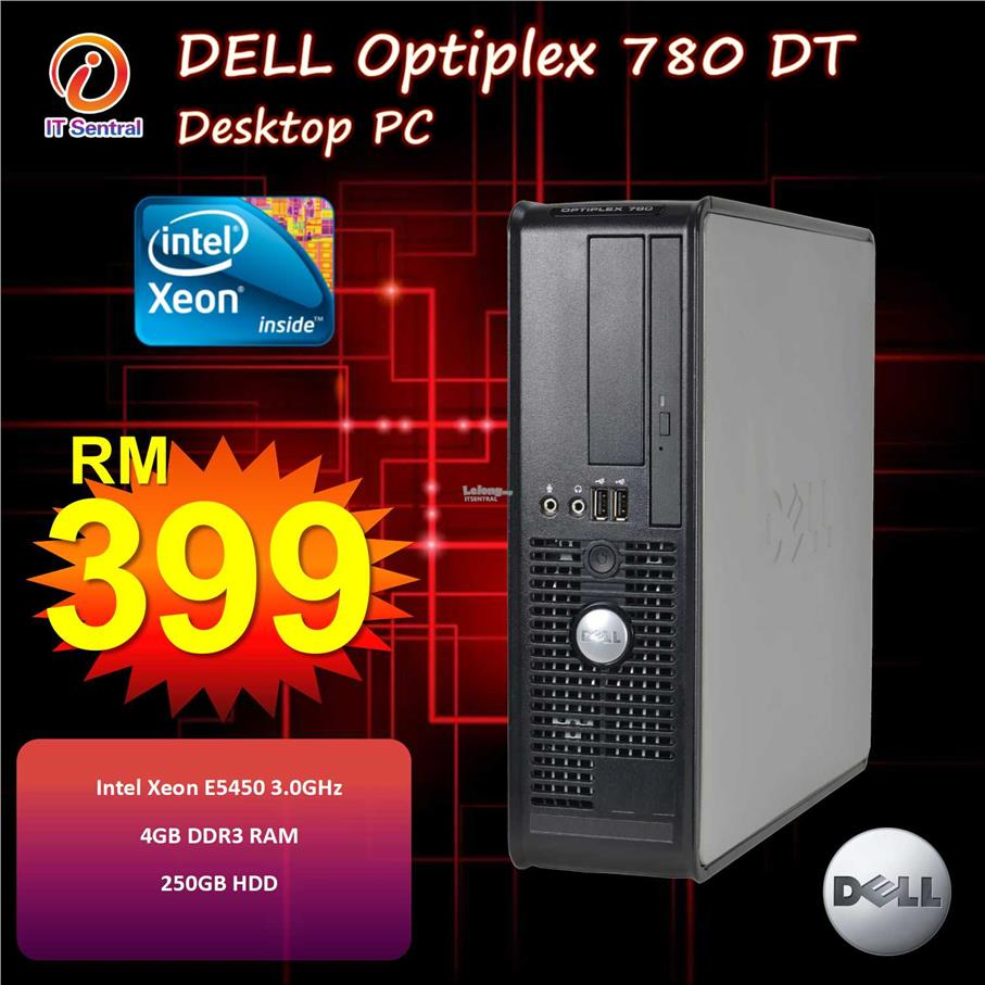Xeon powered Dell Optiplex 780 DT Desktop PC - 3rd gen i3 power