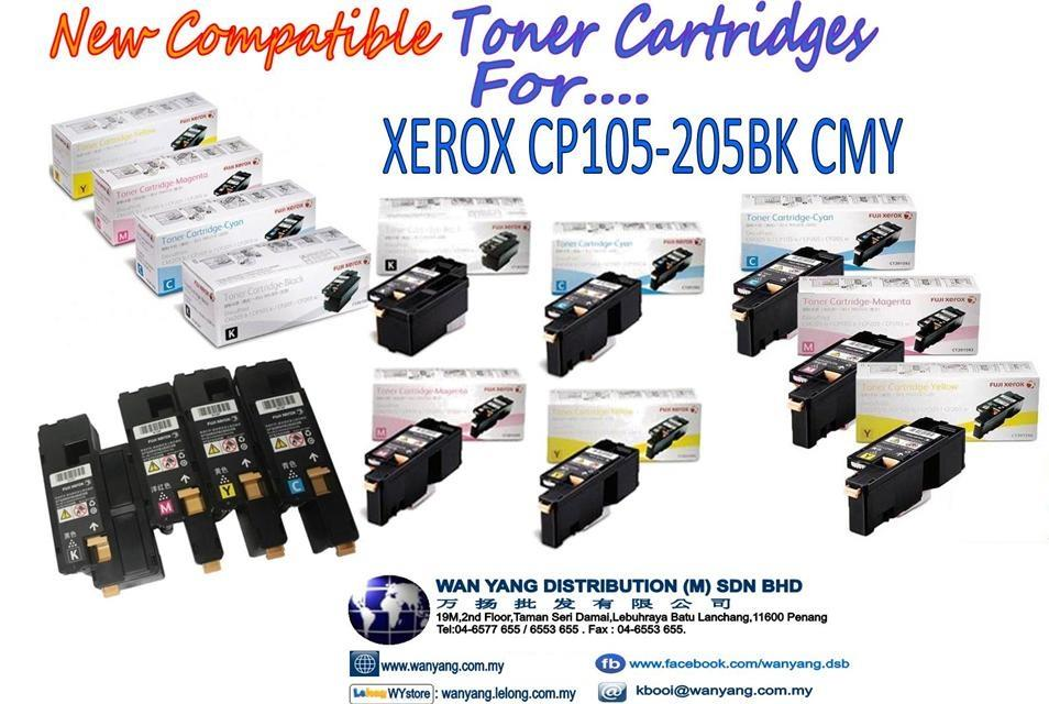 XEROX  CP105/205 bk,cmy -Compatible Toner cartridges
